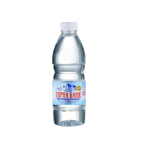 500ml bottle of mineral water