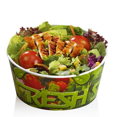 Salad with crispy chicken